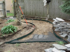 Site Prep For Flagstone Walkway Troy, MI